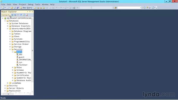 Database-level users: SQL Server 2014 Essential Training