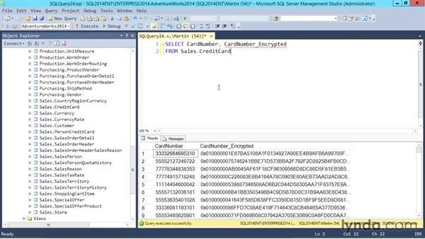 Encrypting data: SQL Server 2014 Essential Training