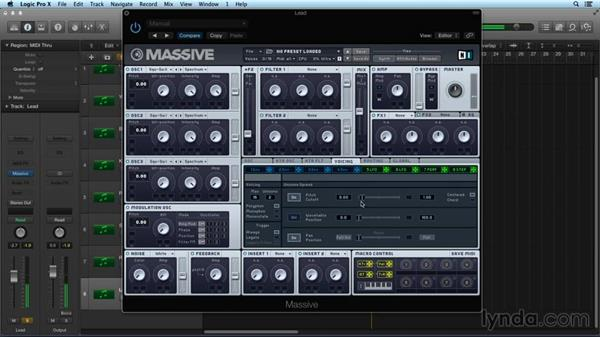 Master settings and polyphony: Digital Synthesis with MASSIVE