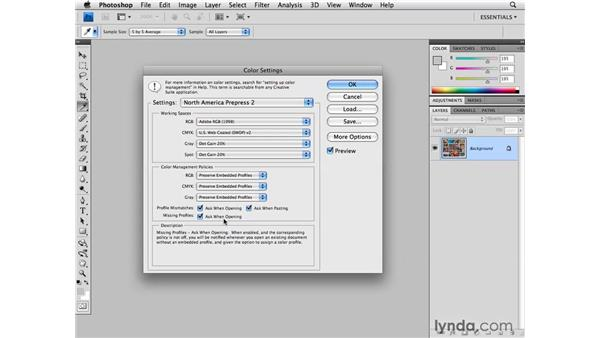Choosing your Color settings: Photoshop CS4 for Photographers