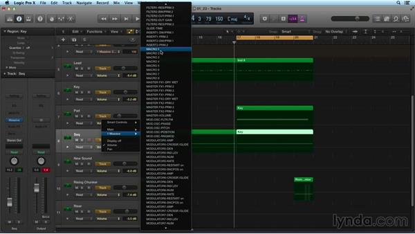 Automating macros in Logic Pro: Digital Synthesis with MASSIVE