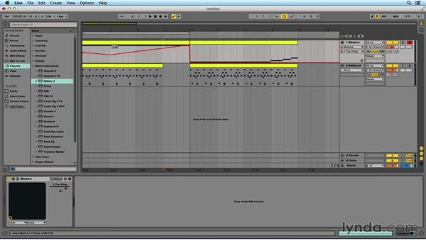 Automating macros in Ableton Live: Digital Synthesis with MASSIVE