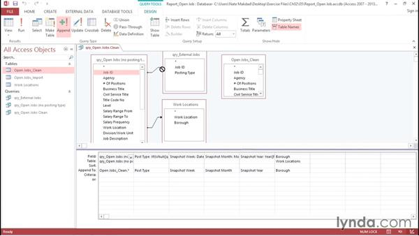 Creating action queries: Creating Interactive Dashboards in Excel 2013