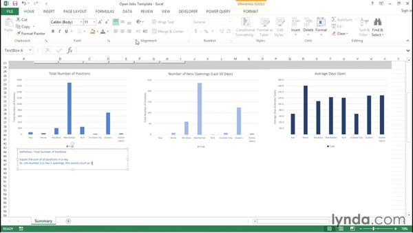 Definitions and help text: Creating Interactive Dashboards in Excel 2013