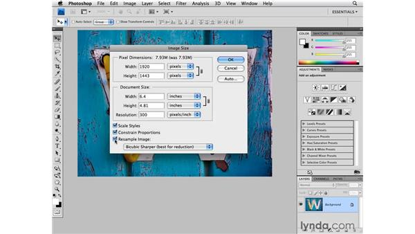 Image Resize overview: Photoshop CS4 for Photographers