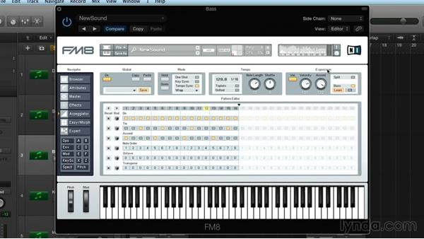 Arpeggiator, part two: Advanced structures: Frequency Modulation with FM8