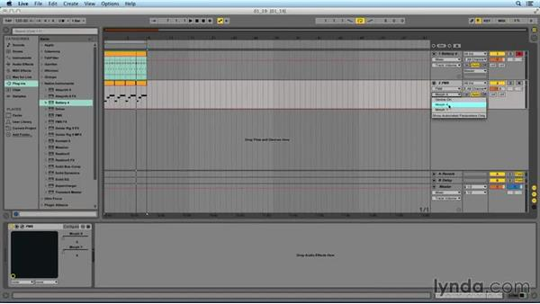 Automation in Ableton Live: Frequency Modulation with FM8