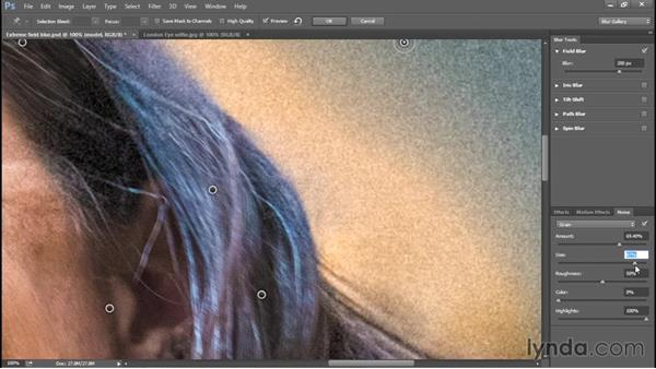 Matching natural noise in the Blur Gallery: Photoshop: 2015 Creative Cloud Updates