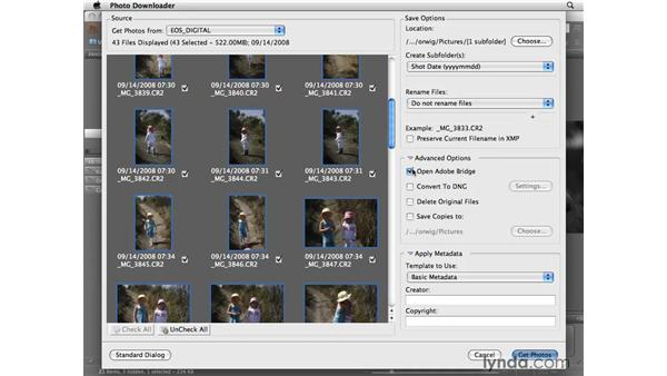 Getting photos from your camera: Photoshop CS4 for Photographers