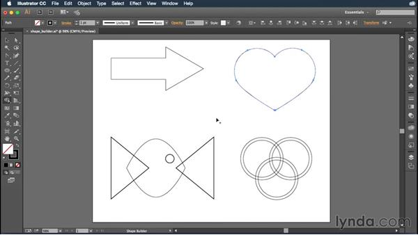 Working with the enhanced Shape Builder tool: Illustrator: 2015 Creative Cloud Updates