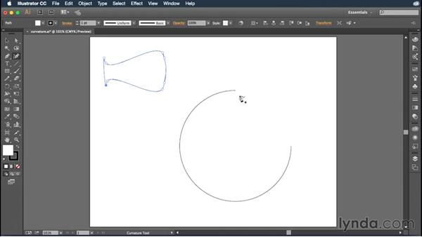 Using the improved Curvature tool: Illustrator: 2015 Creative Cloud Updates