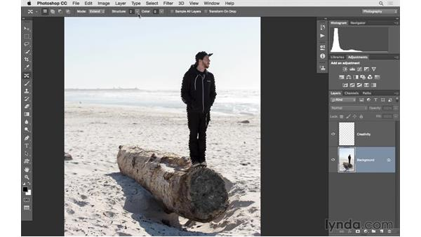Content-Aware Move with transformations: Photoshop for Photographers: 2015 Creative Cloud Updates