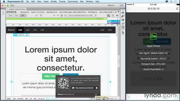Previewing on multiple devices: Dreamweaver: 2015 Creative Cloud Updates