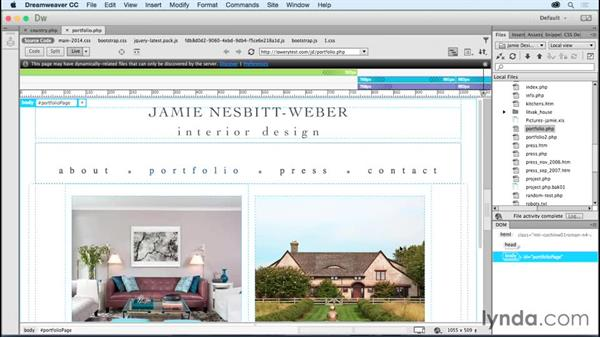 Real-time design with server-side code: Dreamweaver: 2015 Creative Cloud Updates