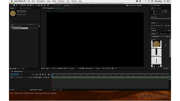 CC Libraries overview: After Effects: 2015 Creative Cloud Updates