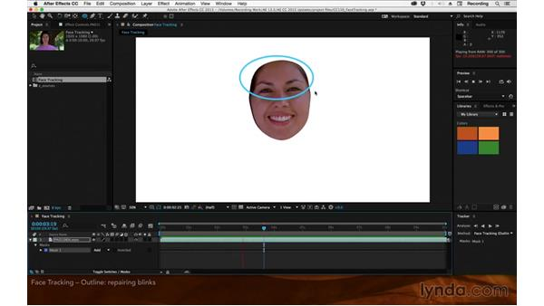 Face tracking: Outline only: After Effects: 2015 Creative Cloud Updates