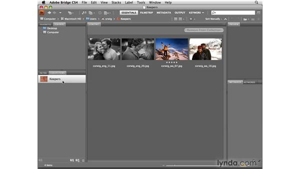 Grouping images with Collections: Photoshop CS4 for Photographers
