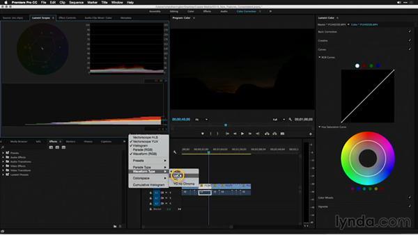 Navigating the new color workspace: Premiere Pro: 2015 Creative Cloud Updates