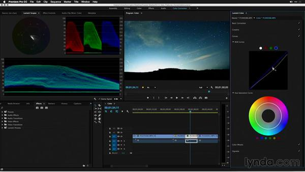 Finer control over color with curves: Premiere Pro: 2015 Creative Cloud Updates