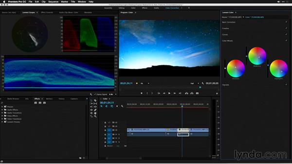 Correcting color casts with the new color wheels: Premiere Pro: 2015 Creative Cloud Updates