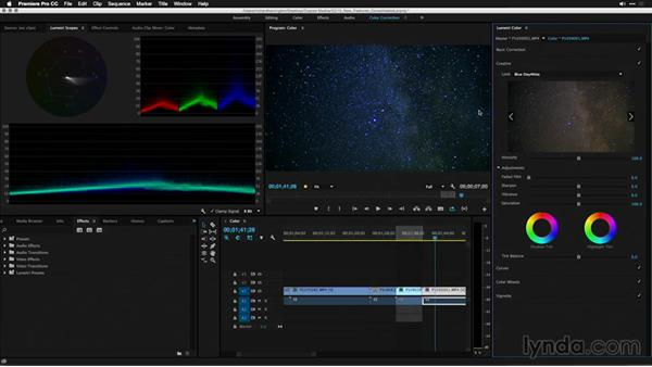 Stylizing a clip with an effect: Premiere Pro: 2015 Creative Cloud Updates
