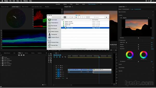 Exporting and auto-refresh of looks/LUTs on disk: Premiere Pro: 2015 Creative Cloud Updates