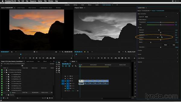 Working with clip or master Lumetri effects: Premiere Pro: 2015 Creative Cloud Updates