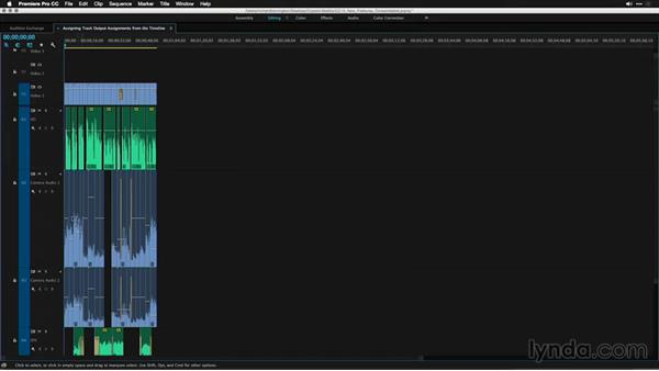 Assigning track output assignments from the timeline: Premiere Pro: 2015 Creative Cloud Updates