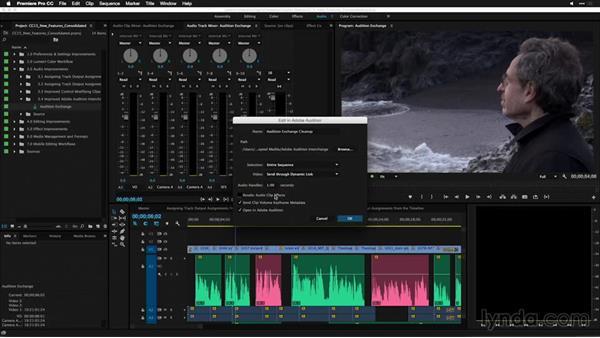 Improved Adobe Audition interchanges: Premiere Pro: 2015 Creative Cloud Updates