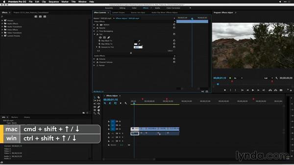 Using arrow keys to adjust effects: Premiere Pro: 2015 Creative Cloud Updates
