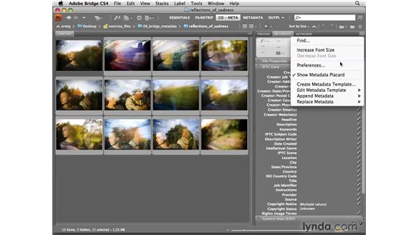Creating a metadata template to add a copyright notice: Photoshop CS4 for Photographers