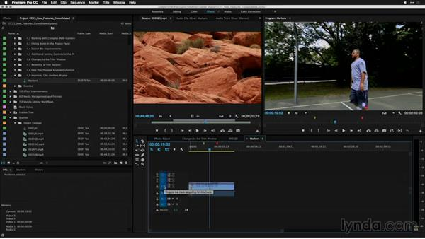 Improved clip markers display: Premiere Pro: 2015 Creative Cloud Updates