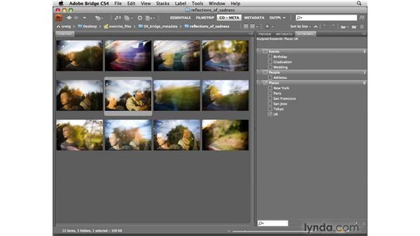 Keywording images: Photoshop CS4 for Photographers