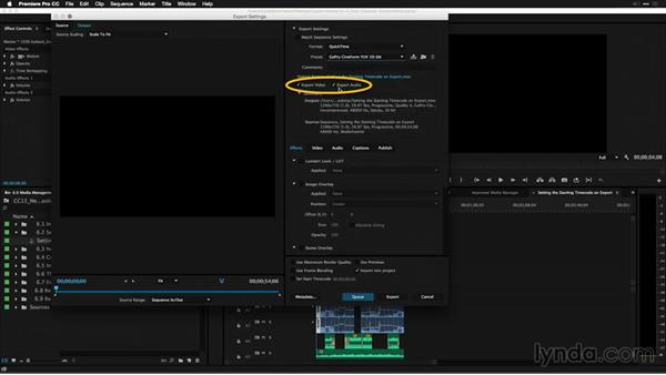 Setting the starting timecode on export: Premiere Pro: 2015 Creative Cloud Updates