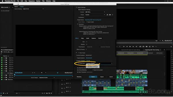 Exporting with time carving: Premiere Pro: 2015 Creative Cloud Updates