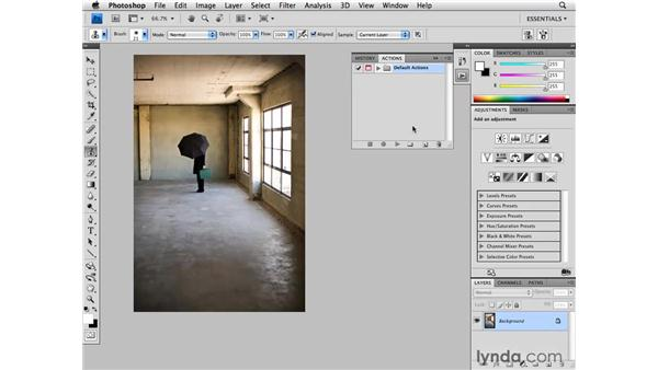 Recording an action: Photoshop CS4 for Photographers