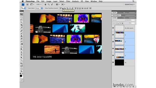 Aligning layers: Photoshop CS4 for Photographers