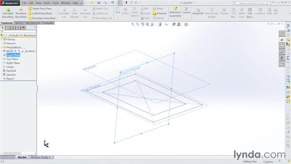 Creating the planes: Steel Building Design with SOLIDWORKS Weldments