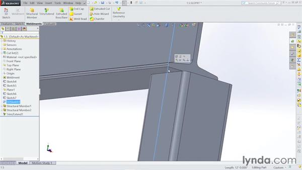Choosing the structural members: Steel Building Design with SOLIDWORKS Weldments