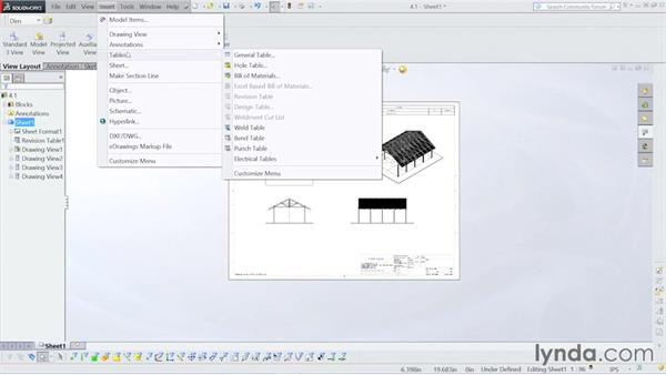 Assembly drawing: Steel Building Design with SOLIDWORKS Weldments