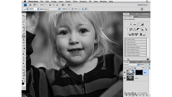 Masking and brightening eyes: Photoshop CS4 for Photographers