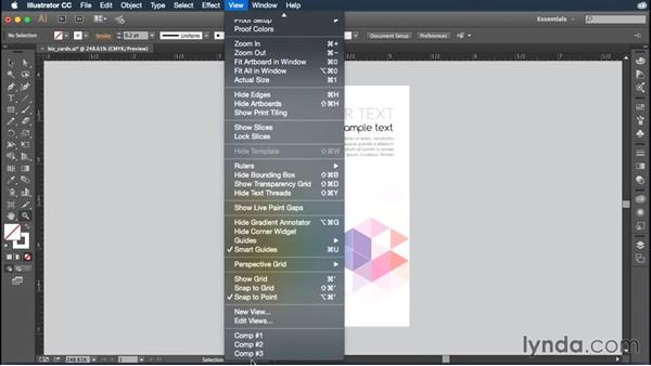 Creating and using custom views: Illustrator CC Essential Training (2015)