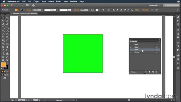 Exploring the Artboards panel: Illustrator CC Essential Training (2015)