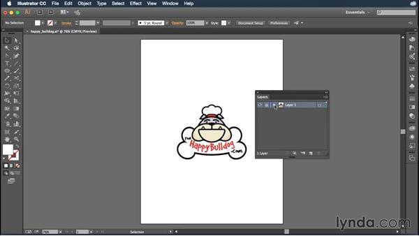 Exploring the Layers panel: Illustrator CC Essential Training (2015)
