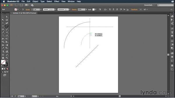 Drawing basic lines and curves: Illustrator CC Essential Training (2015)