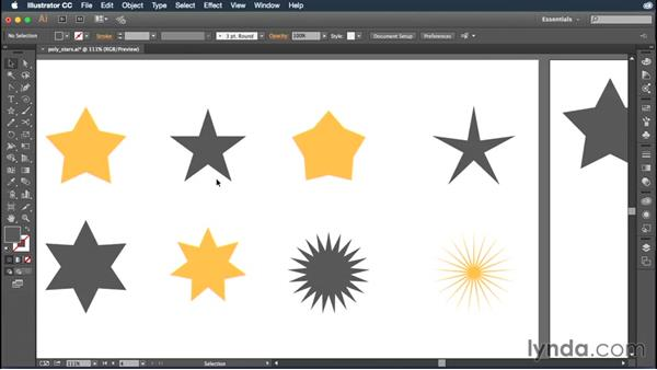 Drawing polygons and stars: Illustrator CC Essential Training (2015)