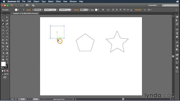 Modifying existing shapes and paths: Illustrator CC Essential Training (2015)