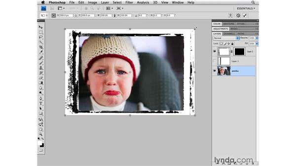 Using pre-built borders: Photoshop CS4 for Photographers