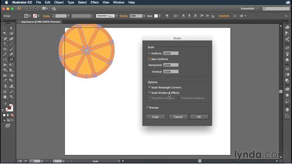 Scaling objects: Illustrator CC Essential Training (2015)