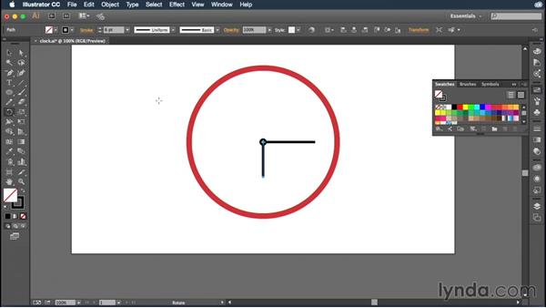 Rotating objects: Illustrator CC Essential Training (2015)